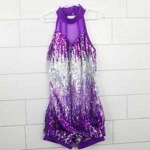 Weissman Dance Costume LC Purple Sequin #9949